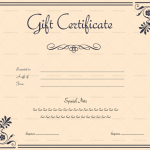 Motif Gift Certificate Template (Blank in Word)