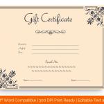 Motif Gift Certificate Template (MS Word)