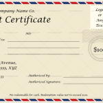 Postcard Concept Gift Certificate Template (MS Word)