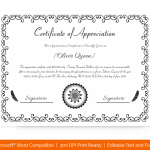 Certification of Appreciation for Employees (#1682)