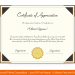 Certification of Appreciation for Employees (#1684)