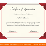 Certification of Appreciation for Employees (#1685)