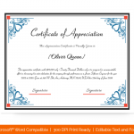 Certification of Appreciation for Employees (#1686)