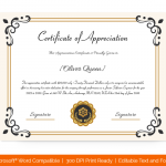 Certification of Appreciation for Employees (#1687)