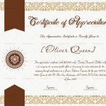 Certification of appreciation for employees (Ribbon, #16782)