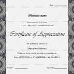 Certificate of Appreciation for Guest Speaker (Black, Printable)