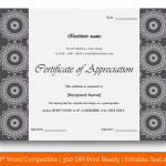Certificate of Appreciation for Guest Speaker (Black, Printable) p