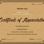 Certificate of Appreciation for Guest Speaker (Brown, Editable)