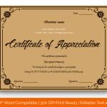 Certificate of Appreciation for Guest Speaker (Brown, Editable) p