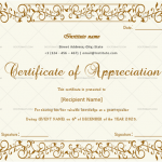 Certificate of Appreciation for Guest Speaker (Dark Brow, Fillable)