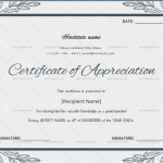 Certificate of Appreciation for Guest Speaker (Grey, Printable in Word) p