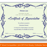 Certificate of Appreciation for Guest Speaker (Mint, Editable in Word) p