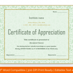 Certificate of Appreciation for Guest Speaker (Parrot, Editable) p