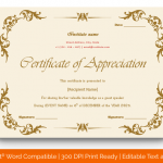 Certificate of Appreciation for Guest Speaker (Pastel Pink, Fillable) p