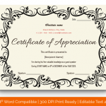 Certificate of Appreciation for Guest Speaker (Pink, Printable In Word) p