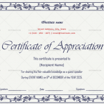 Certificate of Appreciation for Guest Speaker (Purple, Editable in Word)