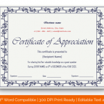 Certificate of Appreciation for Guest Speaker (Purple, Editable in Word) p