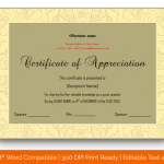 Certificate of Appreciation for Guest Speaker (Skin, Editable) p