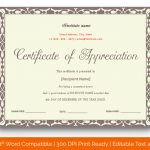 Certificate of Appreciation for Students (Burgundy, editable) p