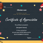 Certificate of Appreciation for Students (Chalkboard, Fillable)