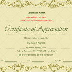 Certificate of Appreciation for Students (Light, Blank)