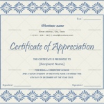 Certificate of Appreciation for Students (Moov, Editable)