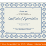 Certificate of Appreciation for Students (Moov, Editable) p