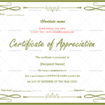 Certificate of Appreciation for Students (Parrot, Blank)
