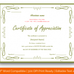 Certificate of Appreciation for Students (Parrot, Blank) p