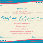 Certificate of Appreciation for Students (Simple, Editable)
