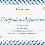Certificate of Appreciation for Teachers (Circles, Editable)