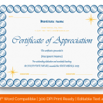 Certificate of Appreciation for Teachers (Circles, Editable) p