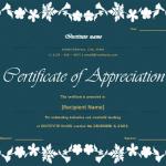 Certificate of Appreciation for Teachers (Dark, Fillable)