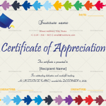 Certificate of Appreciation for Teachers (MULTI, Blank)