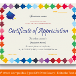 Certificate of Appreciation for Teachers (MULTI, Blank) p