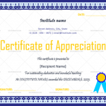 Certificate of Appreciation for Teachers (White, Editable in Word)