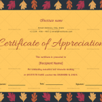 Certificate of Appreciation for Teachers (Yellow, Fillable in Word)
