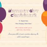 Birthday Gift Certificate (Orange, Editable in Word)