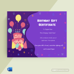 Birthday Gift Certificate (Party, Blank)p