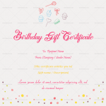 Birthday Gift Certificate (Simple, Printable in Word)