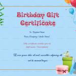 Birthday Gift Certificate (Sky, Printable)