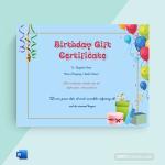 Birthday Gift Certificate (Sky, Printable)p