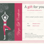 Blank Yoga-gift-certificate-template-in-MS Word-Format