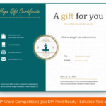 Printable Yoga-gift-certificate-template-in-Word-Format(Preview)