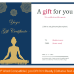 Yoga-gift-certificate-template-in-Microsoft Word-Format(Preview)