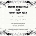 Christmas Gift Certificate Template (White, Printable)