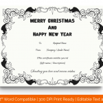 Christmas Gift Certificate Template (White, Printable) p