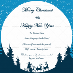 Christmas Gift Certificate Template (Circle, Fillable)