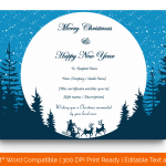 11 Christmas Gift Certificate Template (Circle, Fillable) p