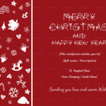 Christmas Gift Certificate Template (Red, Printable in Word)